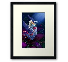 The night fairy flying to the moon Framed Print