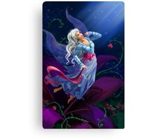 The night fairy flying to the moon Canvas Print