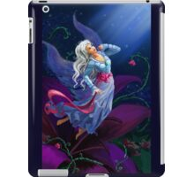 The night fairy flying to the moon iPad Case/Skin