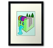 The Earth Cube Framed Print