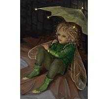 Autumn elf with umbrella Photographic Print