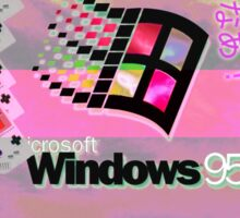 Windows 95 aesthetic vaporwave T-shirt/sticker Sticker