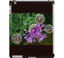 Looking Down on Thistle Flower iPad Case/Skin