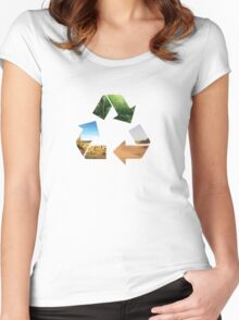 Earth recycle Women's Fitted Scoop T-Shirt