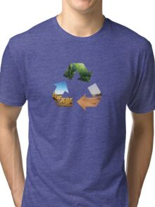 Earth recycle Tri-blend T-Shirt