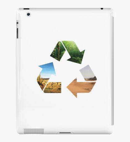 Earth recycle iPad Case/Skin