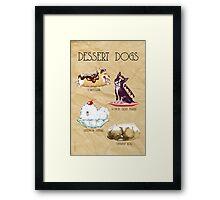 Dessert Dogs Framed Print