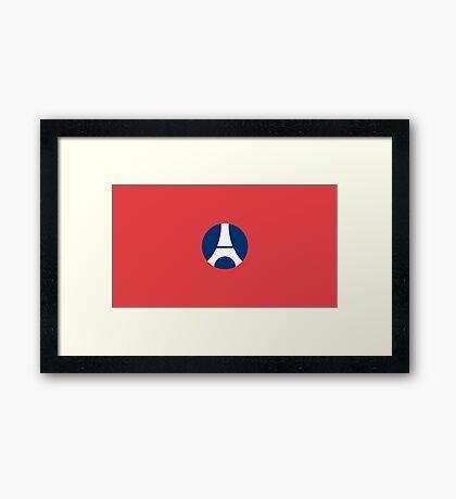 Paris Saint-Germain Cool Minimalist Football Logo! Cheap! Framed Print