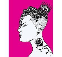 Rose Punk Queen Photographic Print