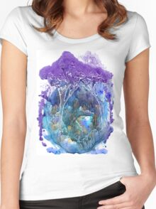 Beautiful forest Women's Fitted Scoop T-Shirt