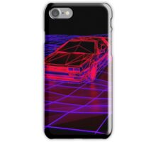 Aestetic retro delorean iPhone Case/Skin
