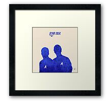 Kirk and Spock, Star Trek Framed Print