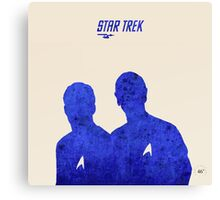 Kirk and Spock, Star Trek Canvas Print