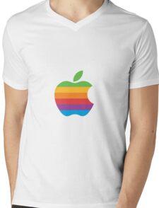 Apple multicolor Mens V-Neck T-Shirt