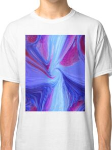 Purple abstract background Classic T-Shirt