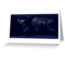 Earth by night Greeting Card
