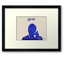 Star Trek quote Framed Print