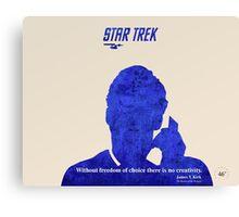 Star Trek quote Canvas Print