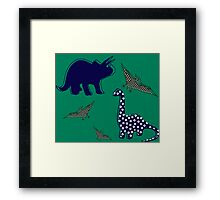 dinosaur  green Framed Print