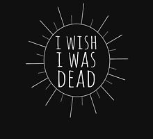 i wish i was dead Womens Fitted T-Shirt