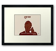 Red Star Trek Framed Print