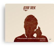 Red Star Trek Canvas Print