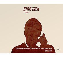 Red Star Trek Photographic Print