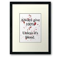 Blood. Framed Print