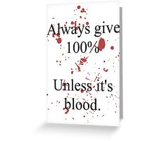 Blood. Greeting Card