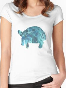 Tortoise  Women's Fitted Scoop T-Shirt