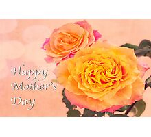 Happy Mother's Day Burst Of Beauty Orange Roses Photographic Print