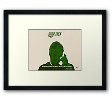 Green Star Trek Communication Framed Print