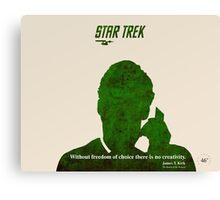 Green Star Trek Communication Canvas Print