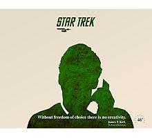 Green Star Trek Communication Photographic Print