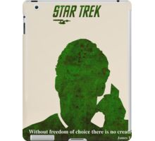 Green Star Trek Communication iPad Case/Skin