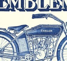 Classic American motorcycle Emblem 1915 blue grungy style Sticker