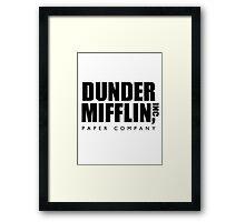 Dunder Mifflin inc. Framed Print