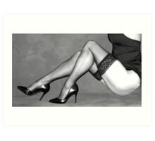 Sexy Legs in Stockings Art Print