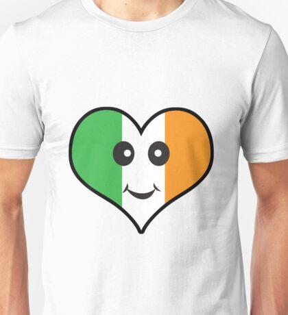 Cute Irish Heart Smiley Face Unisex T-Shirt