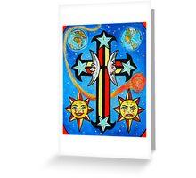 Celestial Cross Greeting Card