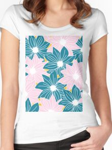 Spring Floral Women's Fitted Scoop T-Shirt
