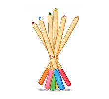 Colored Pencil Bouquet  Photographic Print