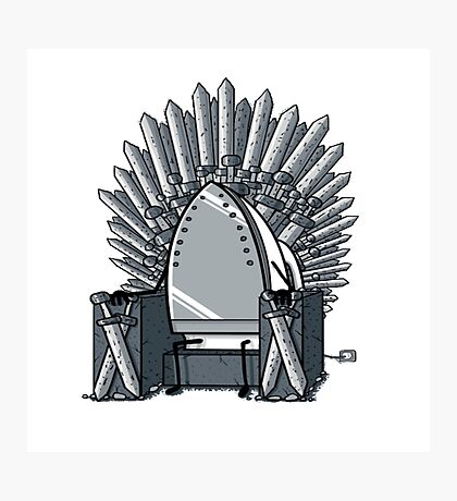 Iron throne Photographic Print