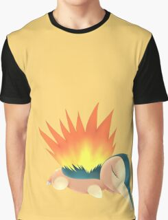 Sleepy Cyndaquil Graphic T-Shirt