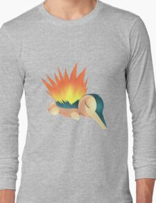 Sleepy Cyndaquil Long Sleeve T-Shirt