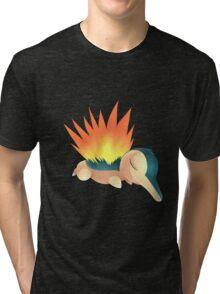 Sleepy Cyndaquil Tri-blend T-Shirt