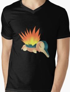 Sleepy Cyndaquil Mens V-Neck T-Shirt