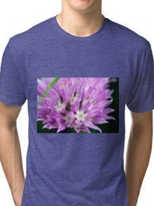 Macro Chive Blossom 4 Tri-blend T-Shirt