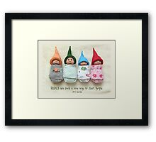 BABIES Are Such A Nice Way To Start People, Clay Babies, No. 2 Framed Print