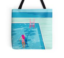 In Deep - abstract memphis throwback 1980s style retro neon palm springs simmer resort country club poolside vacation Tote Bag